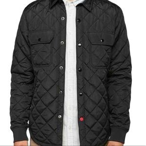 Urban Outfitters CPO Russo Black Quilted Jacket XS